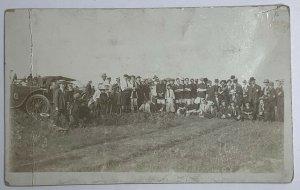 RARE! AZO Real Photo Postcard RPPC Story Canadian Football Team History 1904-17