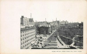 Junction of Broadway & 5th Ave., New York, Very Early Postcard, Unused