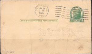 US UX27 Jefferson 1 penny postcard.