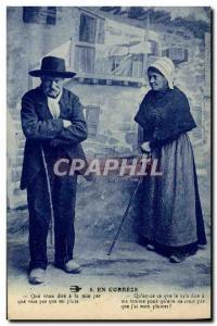 Old Postcard Folklore Correze