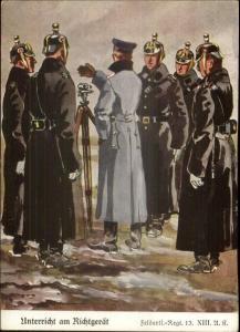 WWI Era German Military Art Teaching the Transit Surveyors Vintage Postcard
