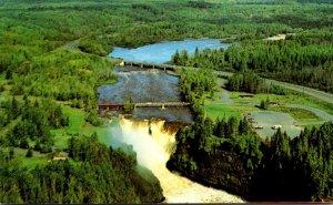 Canada Kakabeka Falls Aerial View