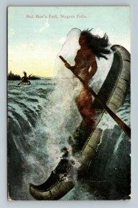 Native Americana - Niagara Falls - Red Man's Fact Maiden Vintage c1910 Postcard