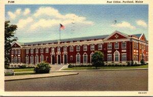 Maine Portland Post Office 1950 Curteich