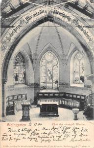 BG40795 weingarten chor der evangel kirche    germany