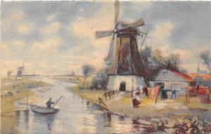 B39118 Moulin a vent Windmill painting art postcard