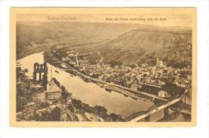 Blick Auf Ruine Grafinburg Und Die Stadt, Traben-Trarbach (Rhineland-Palatina...