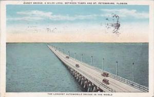 Florida Saint Petersburg Gandy Bridge 6 Miles Long Between Tampa And Saint Pe...