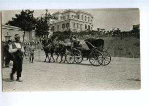 172080 TURKEY CONSTANTINOPLE arrival Sultan carriage to kiosk