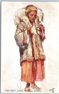 Vintage TUCK'S Oilette Postcard THE HOLY LAND - A Syrian Shepherd 1910s Unused