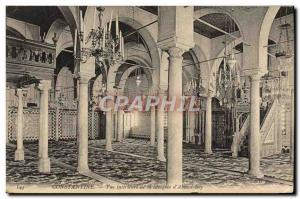 Postcard Old Constantine Inner View of the Mosque of Bey & # 39Ahmed