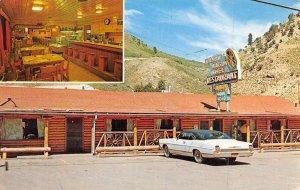 Wagon Wheel Restaurant Jackson Hole Wyoming postcard