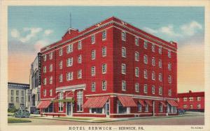 Hotel Berwick, U.S. Route 11, BERWICK, Pennsylvania, PU-1946