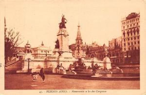 Argentina Buenos Aires - Monumento a los dos Congressos statue monument 1935