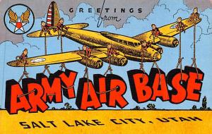 Large Letter Militay Post Card Old Vintage Antique Postcard Army Air Base, Sa...