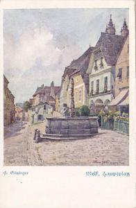 AS: S. Grozinger, Wielf, Sauptplas, Fountain in middle of town, 10-20s