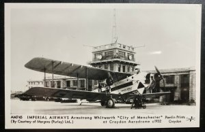 Mint English City Of Manchester Imperial Airways Real Photo Postcard