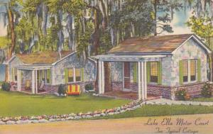 Florida Tallahassee Lake Ella Motor Court Two Typical Cottages