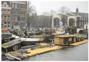 Netherlands Amsterdam Old Boat Bateau Pont Bridge