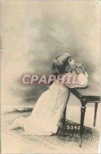 Postcard Old Child Prayer