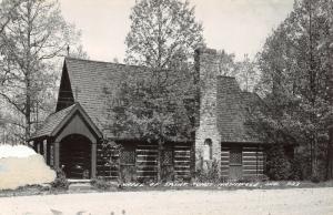 Nashville Indiana~Chapel of Saint Agnes~Catholic Church~Log Cabin~1940s RPPC