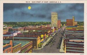 Main Street At Night Greeville South Carolina