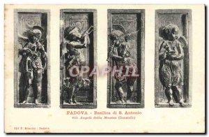 Old Postcard Padova Basilica di S Antonio Gli Angeli della Musica
