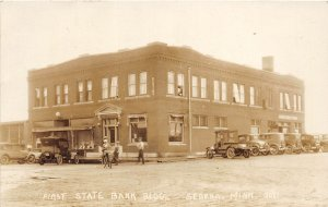 H37/ Sebeka Minnesota RPPC Postcard c1910 First State Bank Building
