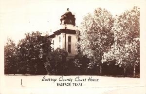 D35/ Bastrop Texas Tx Real Photo RPPC Postcard 1954 County Court House