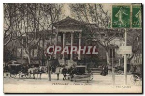 Old Postcard Courthouse Perpignan