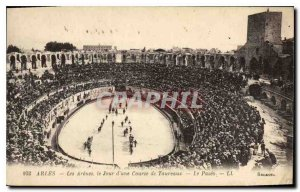 Old Postcard Arles Arenes Day of Toureaux race Paseo