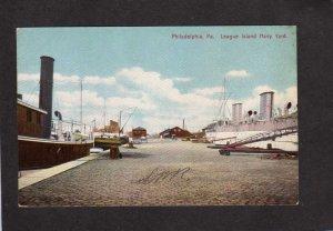PA League Island Navy Yard Ships Naval Philadelphia Pennsylvania Postcard