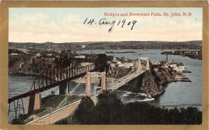 br105970 bridges and reversible falls st john NB canada