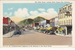 Colorado Canon City Main Street Looking West