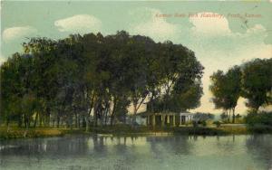Pratt Kansas~Kansas State Fish Hatchery~House~1912 Postcard