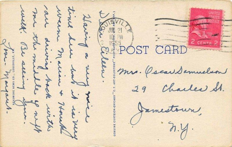 Louisville Kentucky 1955 Postcard Municipal Boat Harbor