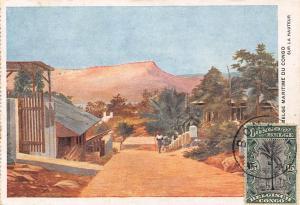 Belgian Congo Belge sur la hauteur Postcard