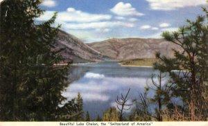 LAKE CHELAN, WA Department of Conservation c1940s WWII Vintage Postcard