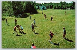 Tobyhanna Pennsylvania~Sports Camp~Girls Field Hockey~1970s Postcard