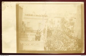 dc1154 - LIBYA Tripoli 1912 Italy Colonies. Military Celebration. Real Photo PC
