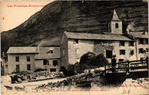CPA Place et Eglise de Merens, prés Ax-les-Thermes (647188)