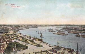 ROTTERDAM, South Holland, Netherlands; 1900-1910's; Panorama Maas, Ships