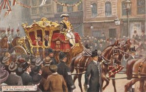 The Lord Mayor's Show. Of the Present Day. Horses Tuck Oilette PC # 9456