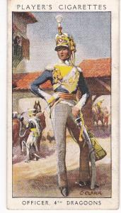 Cigarette Card Player's Dandies No 25 Officer 4th Dragoons