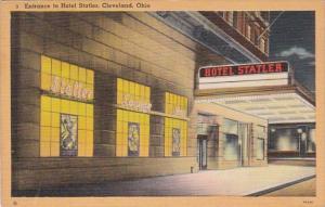 Ohio Cleveland Entrance To Hotel Statler