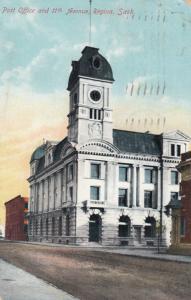REGINA , Saskatchewan, Canada , 1910 ; Post Office & 11th Avenue
