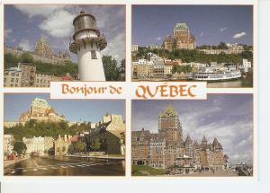 Postal 032125 : Quebec. Ch?eau Frontenac de differents points dobservation