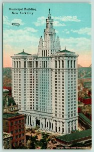New York City~Municipal Building & View of City in Background~c1910 Postcard