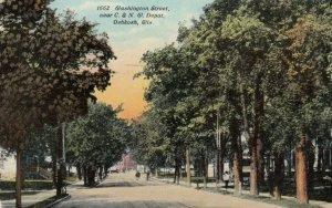OSHKOSH , Wisconsin, 1912; Washington Street, near C.& N.W. Depot