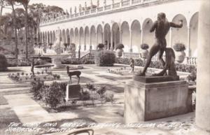 Florida Sarasota Courtyard John & Mable Ringling Museum Of Art 1948 Real Photo